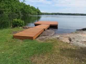 Lovely long dock.
