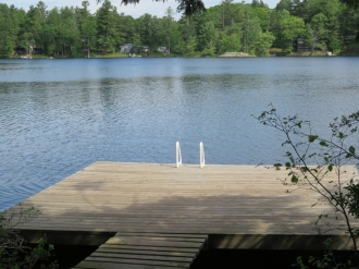 A big dock with great swimming.
