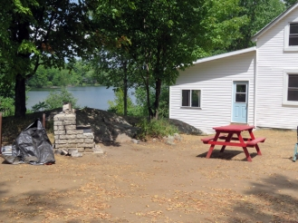 A great picnic area with an outside fireplace to cook dinner and roast marshmallows.