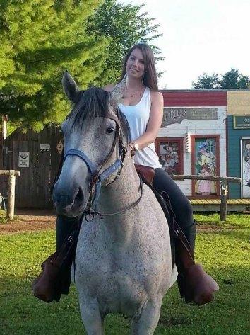 jess on horseback